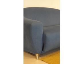 Divano Oriente in microfibra blu scontato del -50%