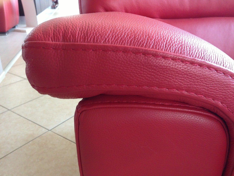 Divano pelle 3 posti rosini divani a prezzi scontati - Divano in pelle rosso ...