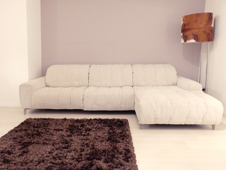 Divano relax soft relax con seduta estraibile e motore elettrico murtarelli salotti design - Divano seduta estraibile ...