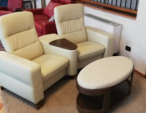 Divano relax Stressless wave home cinema Ekornes a PREZZO OUTLET