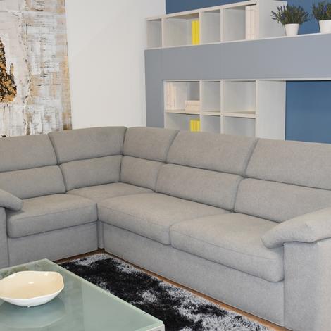 Divano angolare samoa touch con tessuto antimacchia - Offerta divano angolare ...