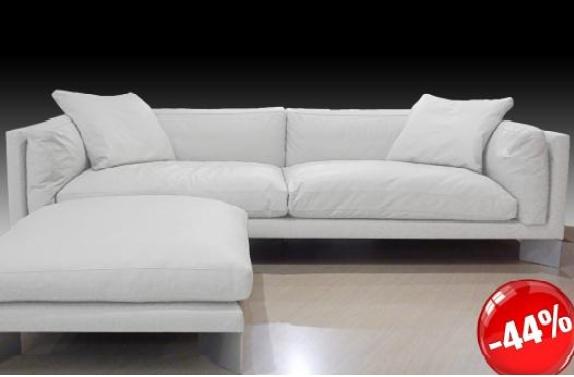 Divano soft bench pelle bianco divani a prezzi scontati for Divano pelle bianco
