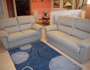 divano tre + due posti in tessuto sfoderabile cotone