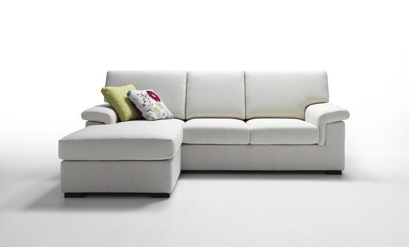 Divano venere in vari tessuti con penisola reversibile - Ikea piedini divano ...