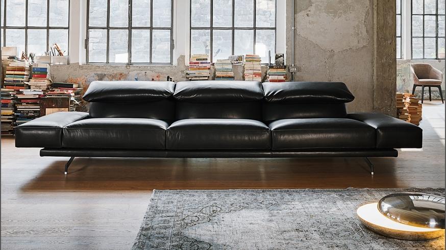 Divano vibieffe altopiano 328 pelle divani lineari pelle for Divano 4 posti