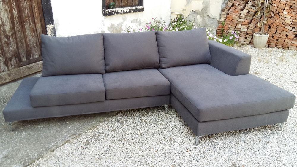 Divano con penisola felix in tessuto scontato del 64 for Chaise longue divano