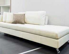 Dormeuse divano relax in vera pelle bianca by Alberta salotti a prezzo ribassato