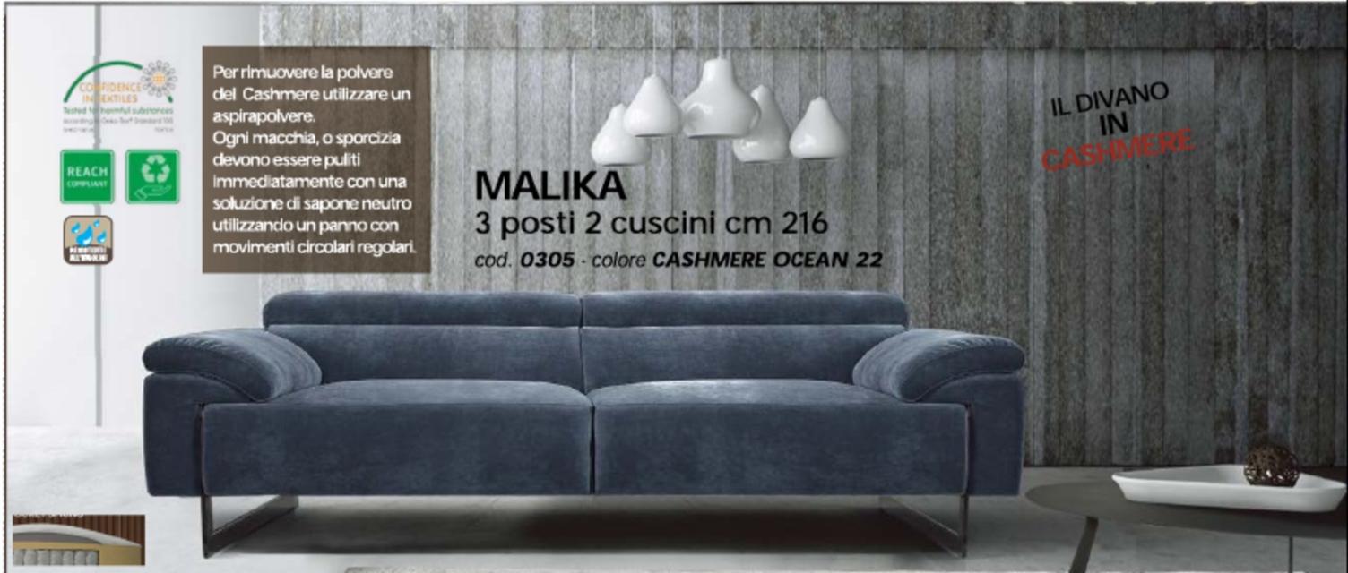 Egoitaliano divano malika cashmere scontato del 55 for Ego italia divani