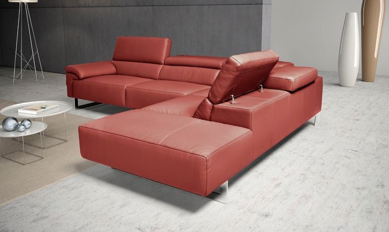Egoitaliano divano malika in vera pelle scontato del 56 - Pelle del divano rovinata ...