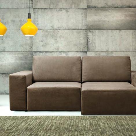 Errebi divano glide divani con chaise longue tessuto - Lunghezza divano 3 posti ...