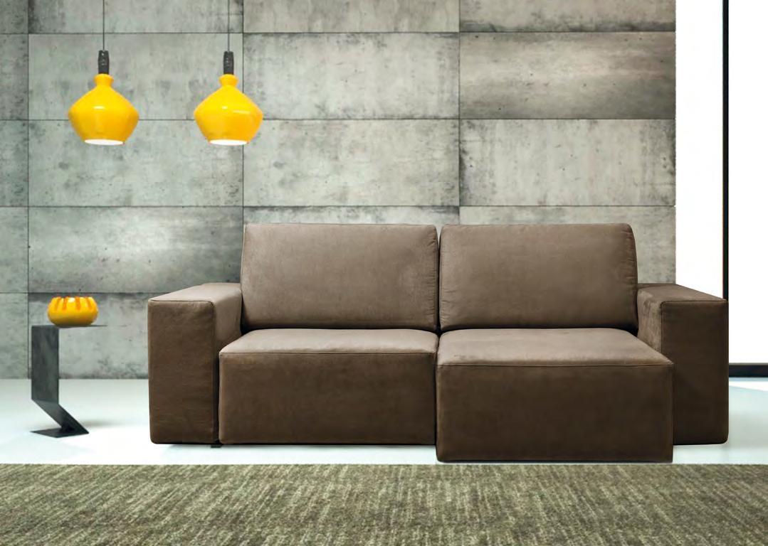 Errebi divano glide divani con chaise longue tessuto - Divano due posti con chaise longue ...