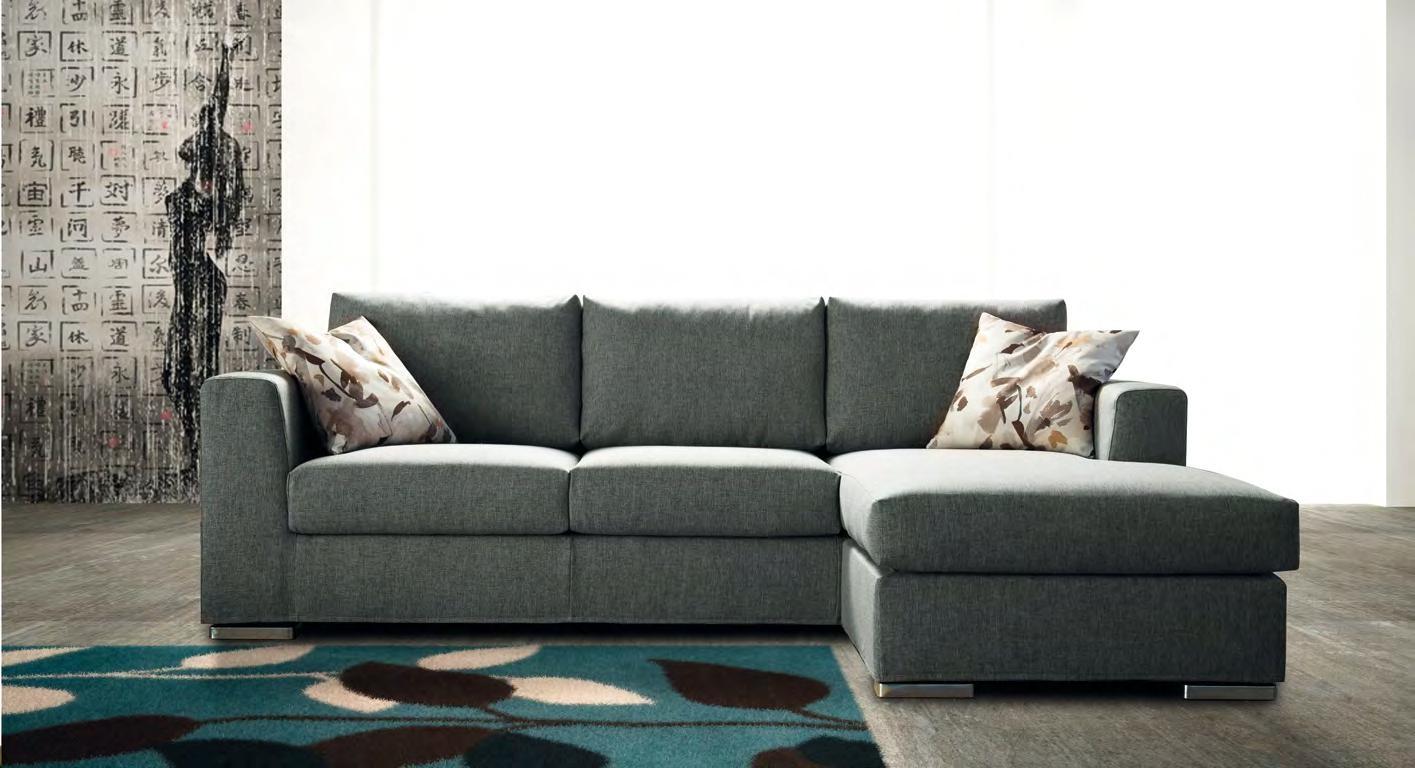 Errebi divano swing divani con chaise longue tessuto for Chaise longue divano