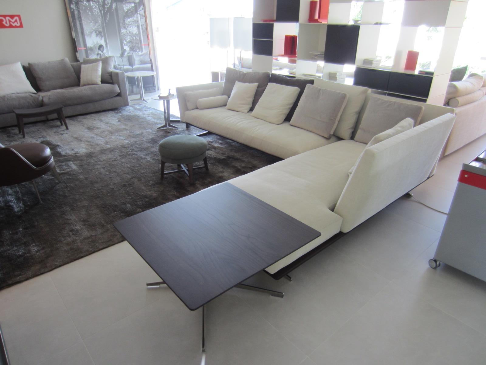 Divano Long Island Flexform. Finest Modular Sofa Leather Fabric ...