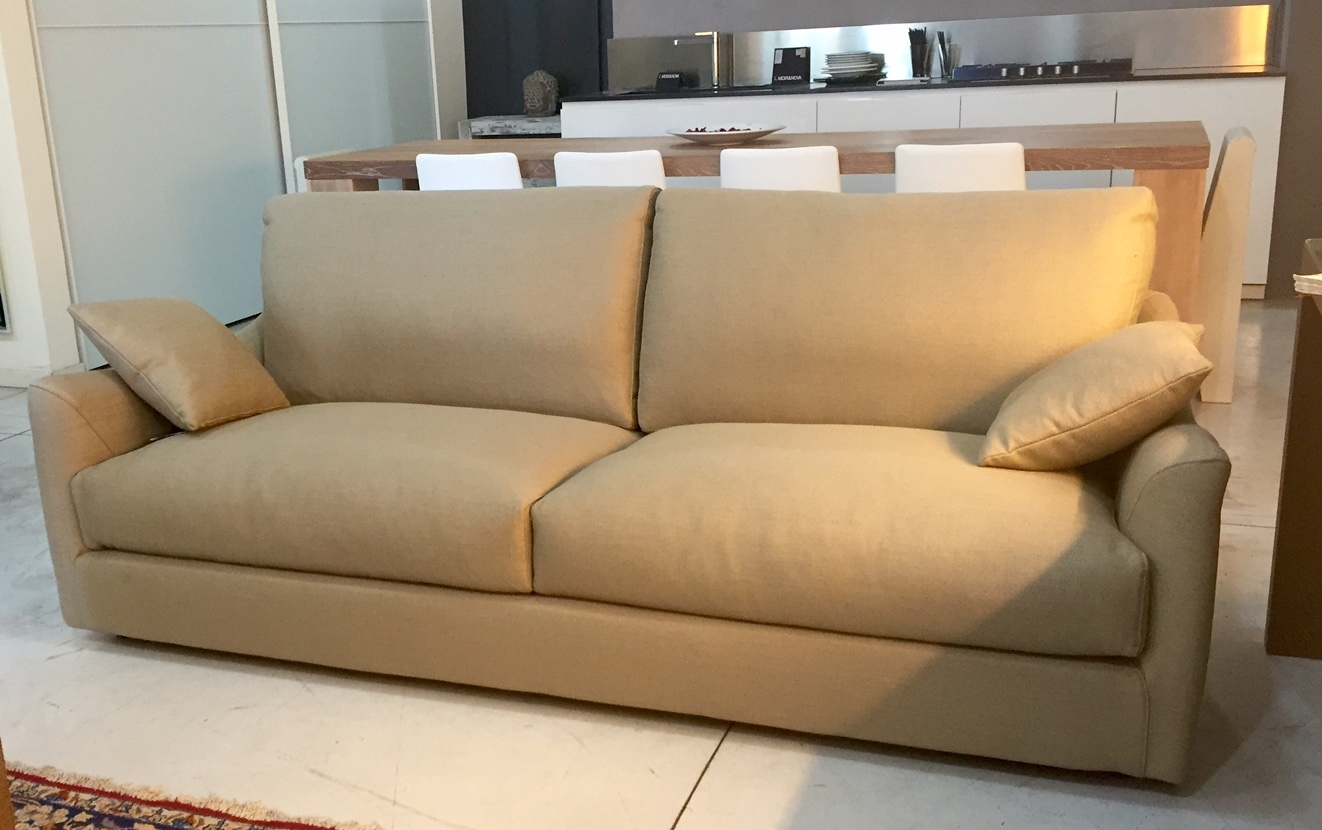 Fox italia divano bells divani lineari tessuto divano 3 for Divano tessuto