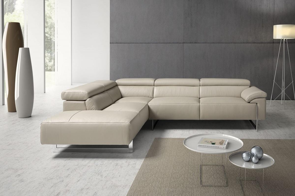 Malika divano angolare con schienali regolabili in pelle for Divano in pelle prezzi