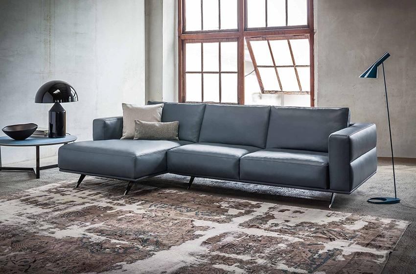 nuovo divano componibile in vera pelle a 3 posti design