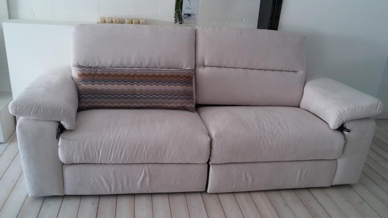 Occasione divano puccini in tessuto con sedute allungabili - Tessuto rivestimento divano ...