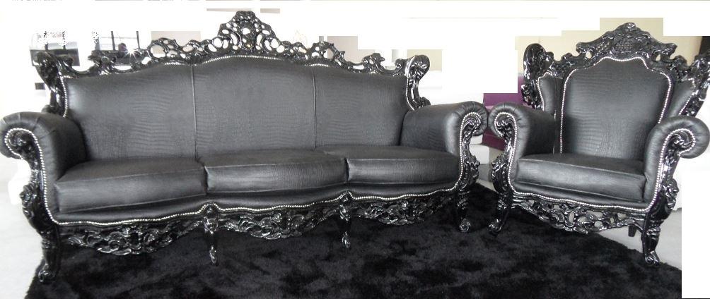 Offerta divano con poltrona stile barocco divani a - Divani in stile barocco ...