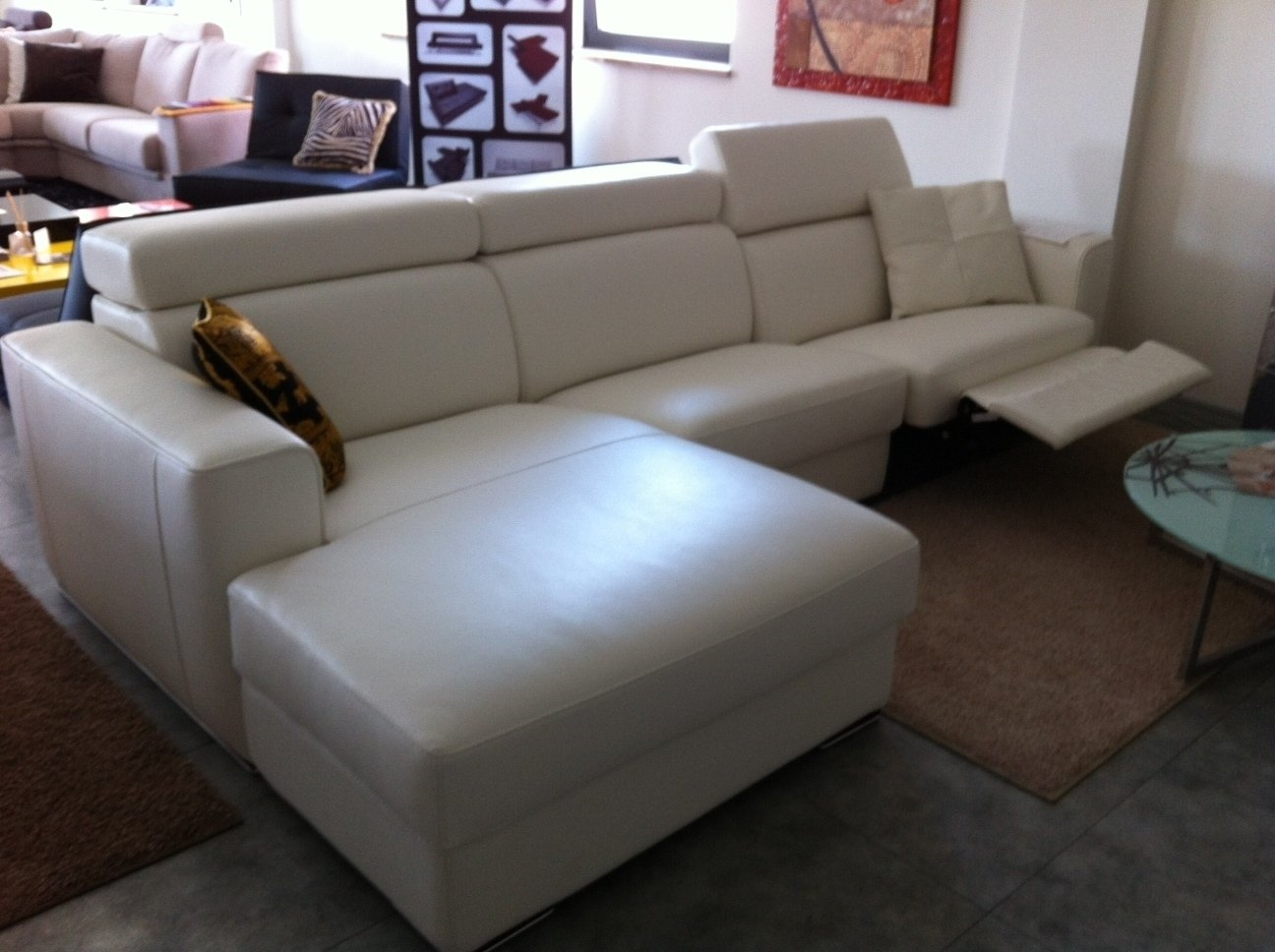 Offerta divano in pelle relax divani a prezzi scontati - Divano letto elettrico ...