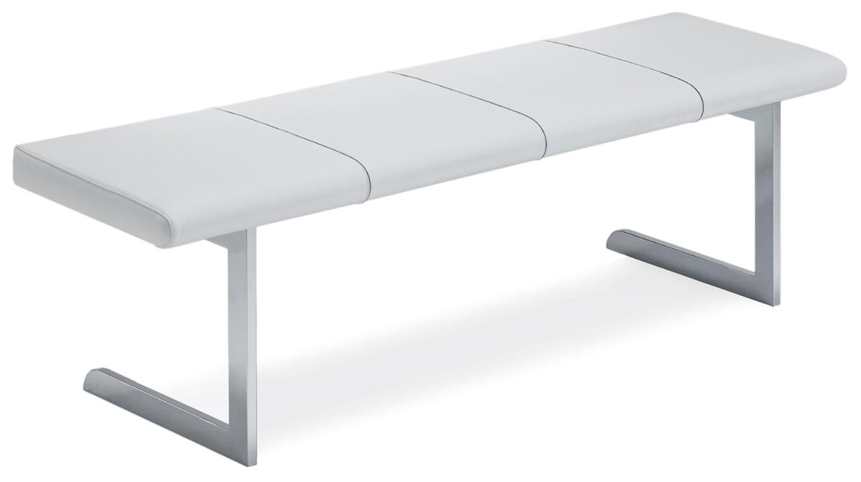 Divano Bianco Pelle >> Panca moderna in metallo effetto pelle bianca o nera Adria PA2 - Divani a prezzi scontati