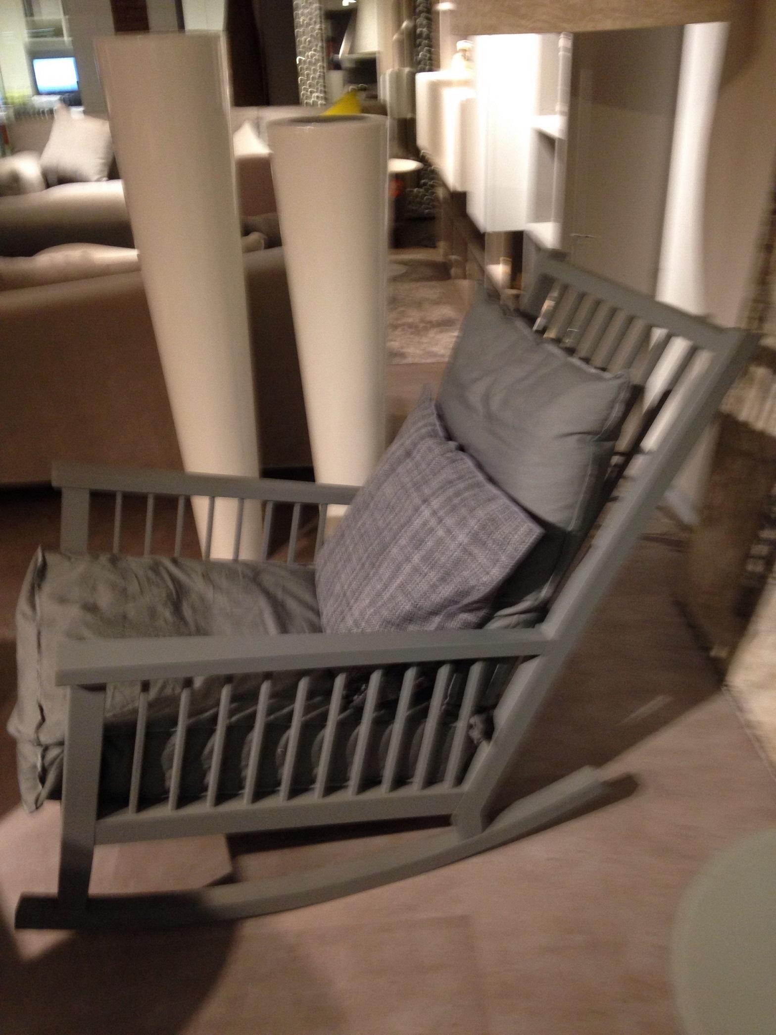 Poltrona a dondolo ditta gervasoni modello gray 09 divani a prezzi scontati - Poltrona a dondolo di design ...