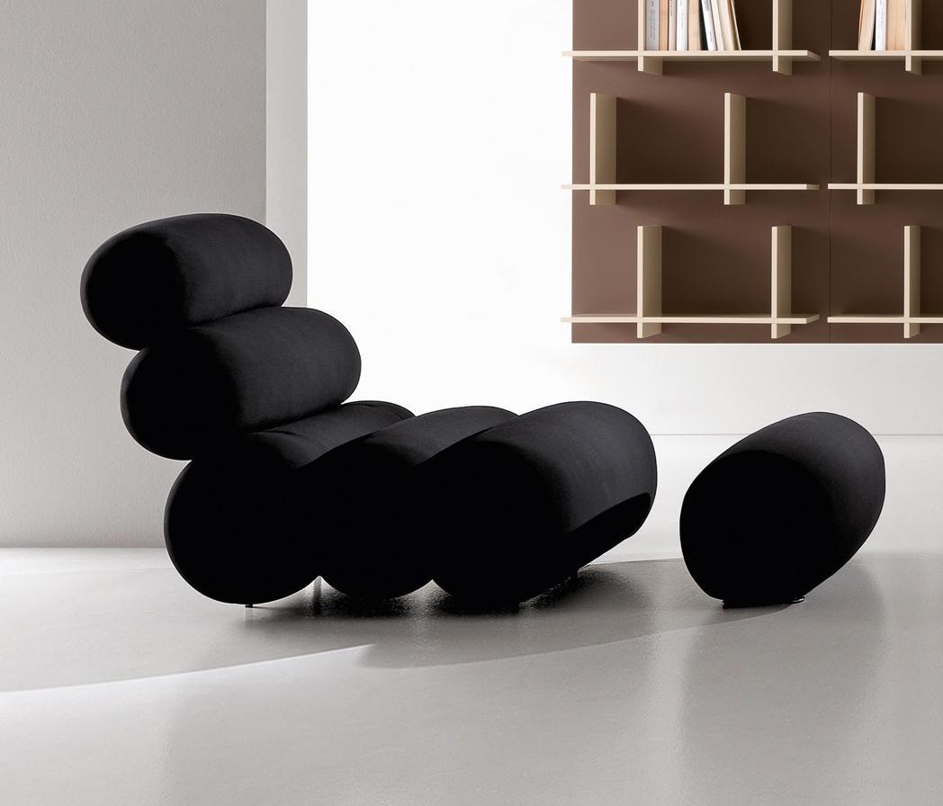 Poltrona chaise longue bruco di presotto italia scontata for Poltrona chaise longue