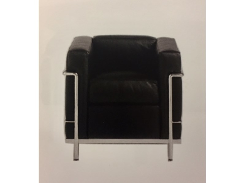 Poltrona Le Corbusier.Poltrona Lc2 Art E 8 P Le Corbusier Esprit Nouveau Offerta Outlet