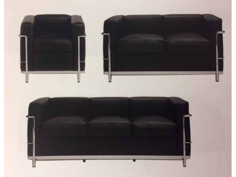 Poltrona Lc2 Prezzo.Poltrona Lc2 Art E 8 P Le Corbusier Esprit Nouveau Offerta Outlet