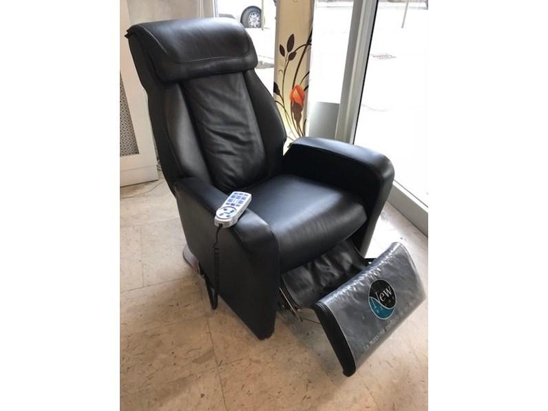 Poltrona massaggio in Pelle New relax a prezzo scontato
