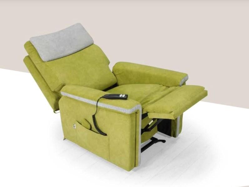 Poltrone Relax Di Piccole Dimensioni.Poltrona Relax Cuborosso Gerbera Artigianale In Offerta Outlet