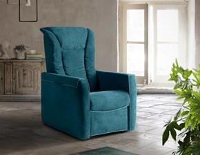 Poltrona relax in stile Design Con poggiapiedi in offerta