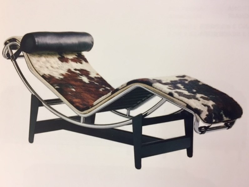 Poltrona Le Corbusier.Poltrona Relax In Tessuto Chaise Lounge Art E 4 C Le Corbusier Esprit Nouveau