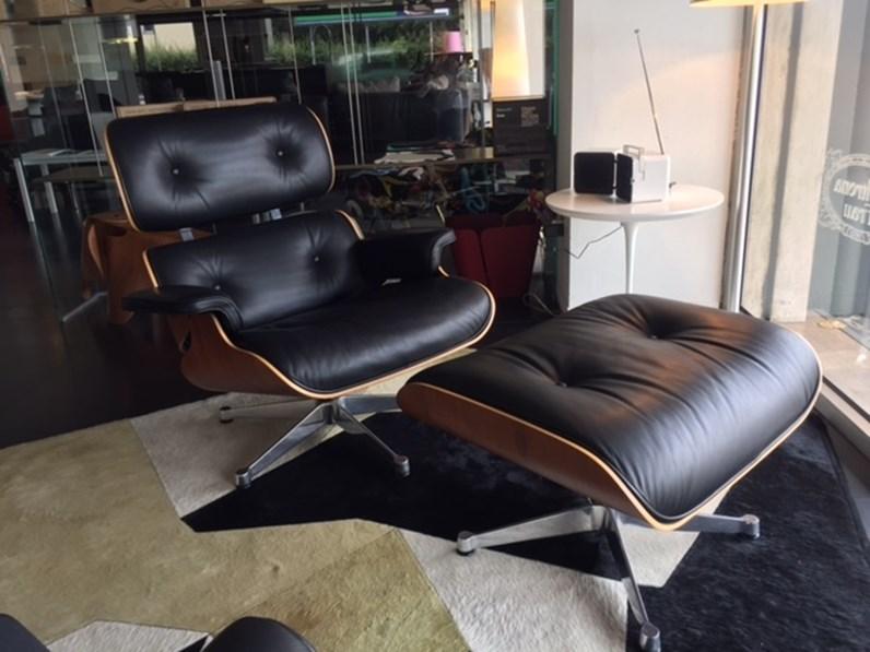 Poltrona Relax Lounge.Poltrona Relax Lounge Chair Ottoman Pallisandro Santos Vitra In Offerta Outlet