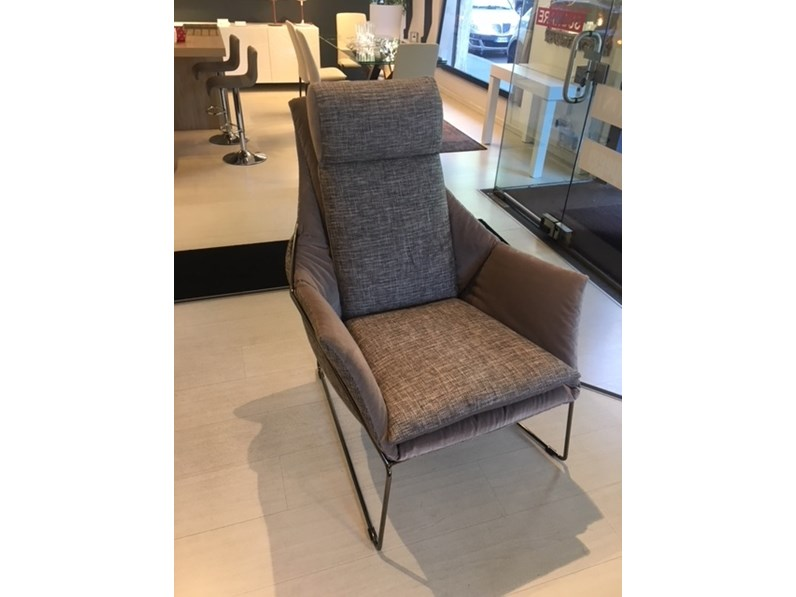 Poltrona relax New york bergere alta Saba salotti in Offerta Outlet