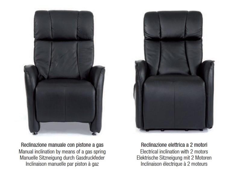 Poltrona relax poltrona relax nera in pelle design e moderno md work prezzi outlet - Poltrona relax design ...
