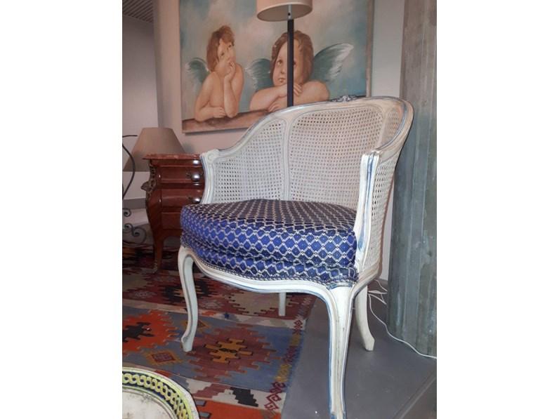 Poltroncina in paglia di vienna di bellotti super offerta for Bellotti arredamenti
