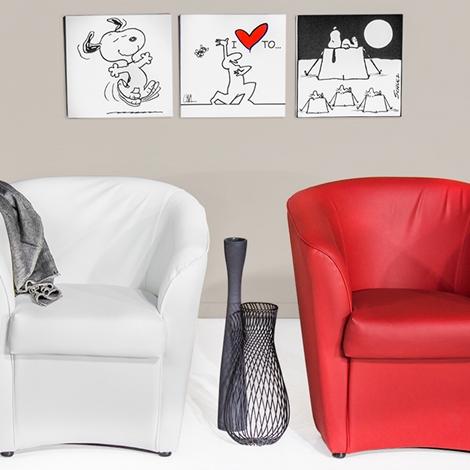 Poltroncina vogue rossa divani a prezzi scontati for Divani quale marca scegliere