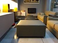 Pouf Doimo Sofas - Metropolitan 90x90 H=43 in pelle Grigio/Beige