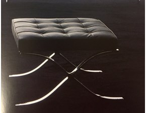 Pouf in Pelle Barcelona - pouf art.3002b Esprit nouveau