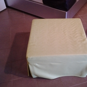 POUFF A LETTO IN ECOPELLE VERDE LIME