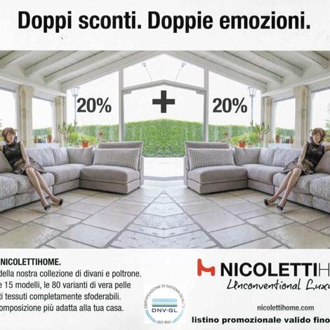 PROMOZIONE DIVANO NICOLETTI HOME MOD. ALLURE PELLE SCONTATO 48 ...
