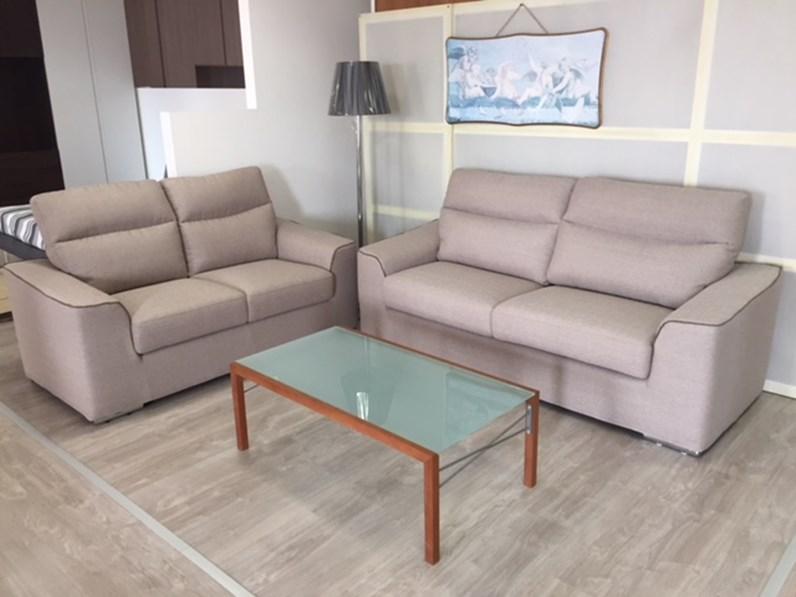 Rosini salotti divano malaga mini divani lineari tessuto - Divano profondo 60 cm ...