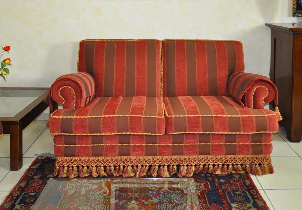 Salotto classico divano 3 posti letto + 2 posti offerta esposizione - Divani a prezzi scontati