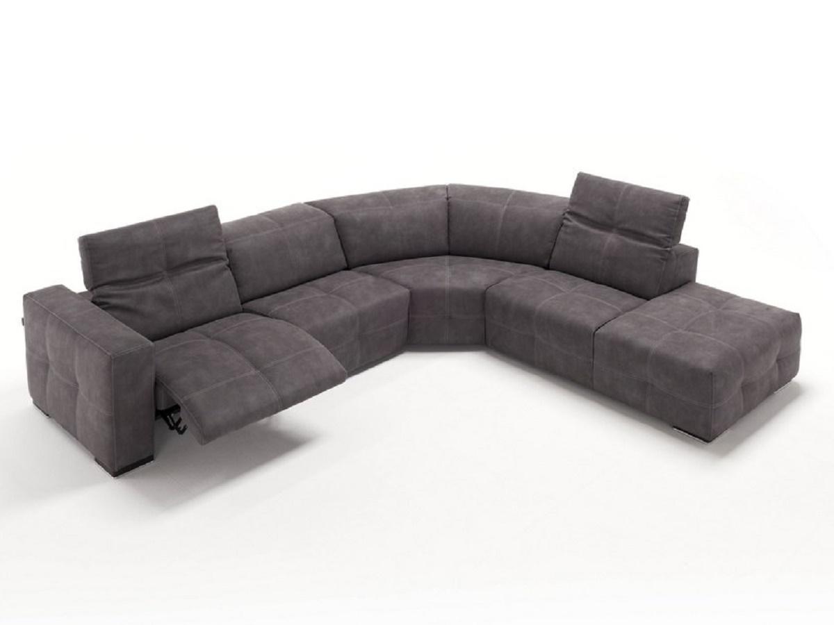 Sauvanne divano angolare sedute con relax rivestimento in - Divano angolare prezzo basso ...