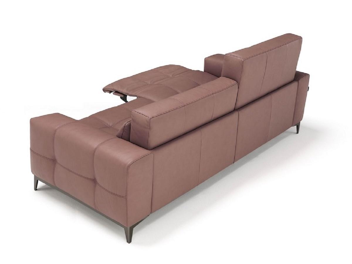 Tiffani divano a due posti con un movimento relax in pelle for Divano 4 posti relax