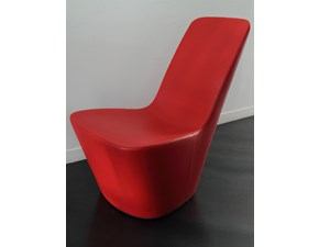 Monopod Vitra in pelle rossa, design Morrison 2008