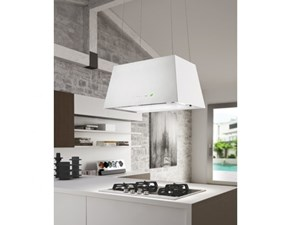 Cappa di grande qualità Falmec Falmec cappa lumiere e-ion 67 parete cap. vetro bianco 450 m3 in offerta