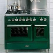 Cucina Ilve modello MTD100SDE3 Majestic. Cucina Linea Majestic 100 cm composta da piano cottura e due forni elettrici.