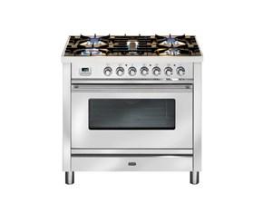 Cucina Ilve modello P906E3 Professional. Cucina Linea Professional 90 cm comprensiva di piano cottura  e forno elettrico.