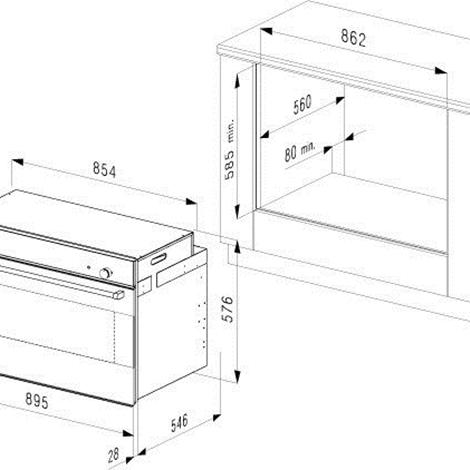 Forno da 90 cm smalvic 10084 elettrodomestici a prezzi - Forno da incasso 90 cm ...